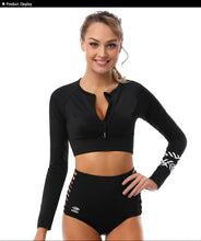 Load image into Gallery viewer, Two Piece Rash Guard Swimwear Long Sleeve