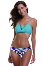 Load image into Gallery viewer, Spaghetti Strap Halter Two Piece Swimsuit