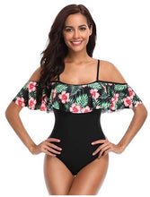 Load image into Gallery viewer, One Piece Off Shoulder Flounce Ruffled Swimsuits