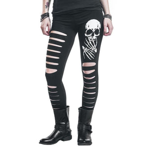 Women Leggings, Printed skull Hollow Hole Leggings ( Free Shipping ) - Fast-Selections
