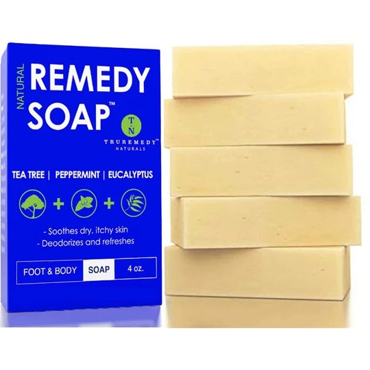 Remedy Natural Tea Tree Oil & Peppermint Soap Bar - 5 Pack