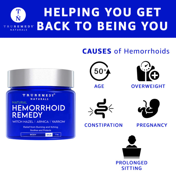 Remedy Hemorrhoid Balm – Fast Relief Hemorrhoid Treatment Cream 2 Oz