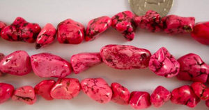 Medium Redish Pink Magnesite Nuggets
