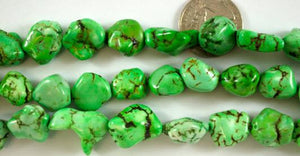 Medium Apple Green Magnesite Nuggets