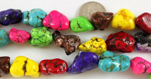 Large Multi-Color Magnesite Nuggets - $12 per Strand