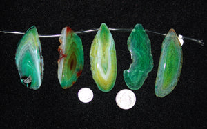 Green Agate Focal Beads