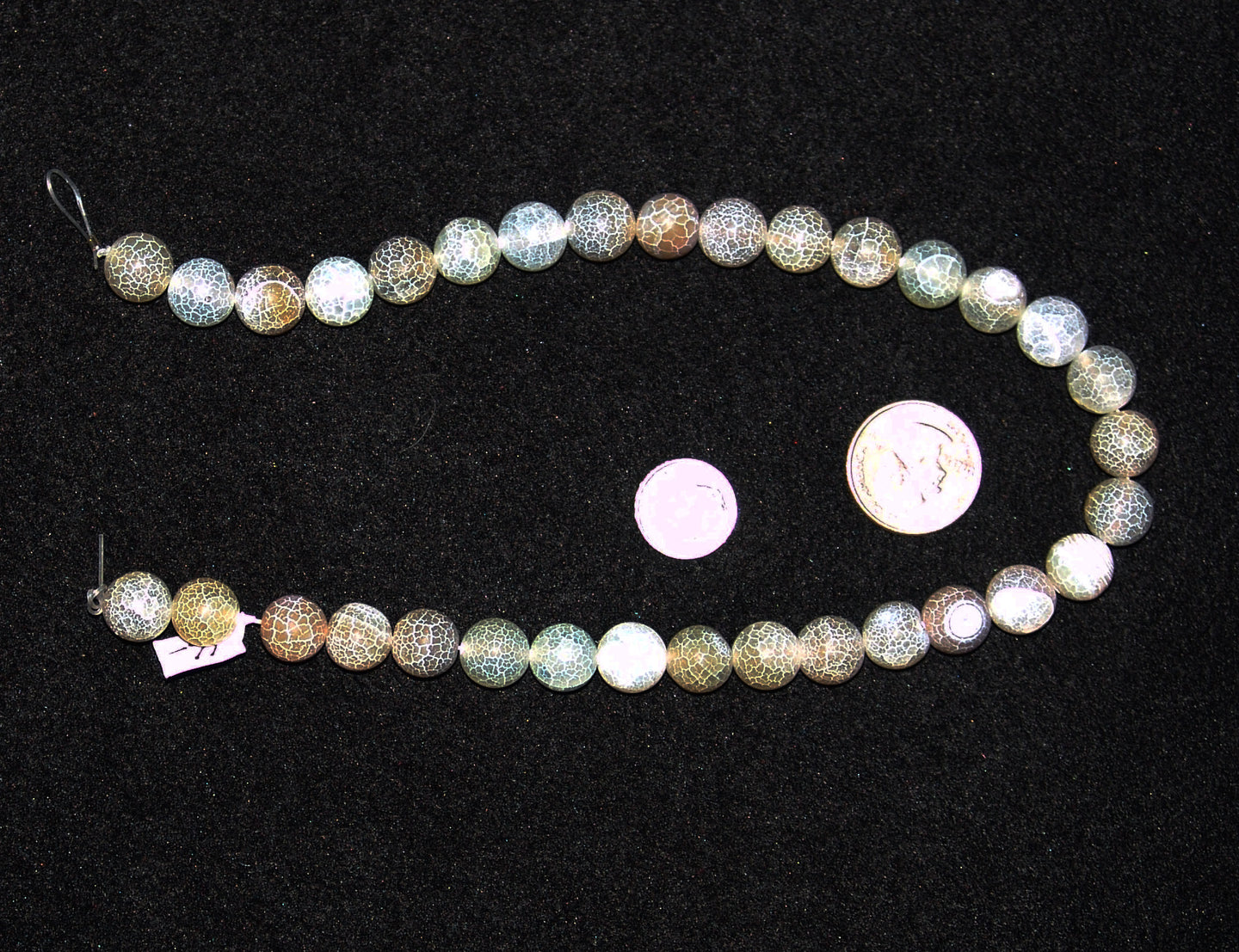 Frosted Greyish Green Round Agate Beads