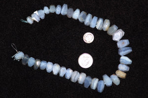 Blue Lace Agate Natural Beads