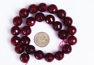 Burgandy Natural Fire Agate Beads 16mm