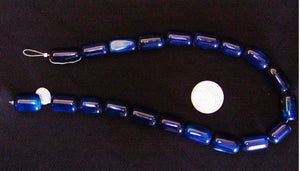 Blue Polished Agate Barrel