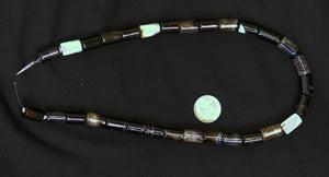 Black Agate Tube Beads