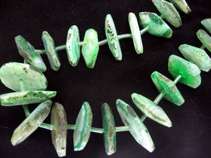 Green Agate Wheel Faceted  Beads