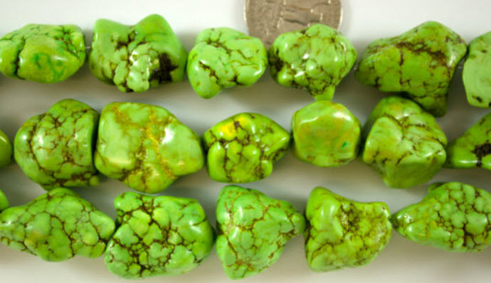Large Apple Green Magnesite Nuggets