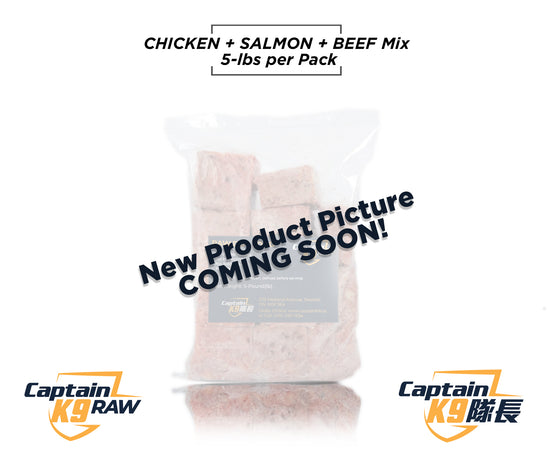 Chicken, Salmon, Beef Mix  - 5LB Bags