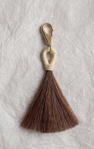 Basket Tassel - Brown & Cream