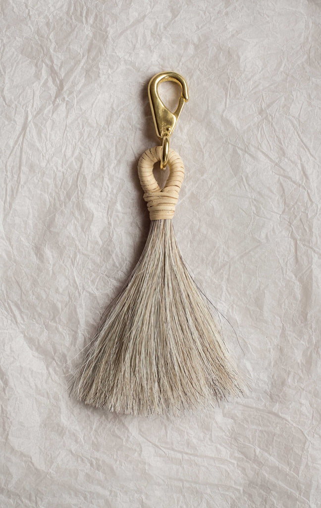 Basket Tassle - Cream & Pepper