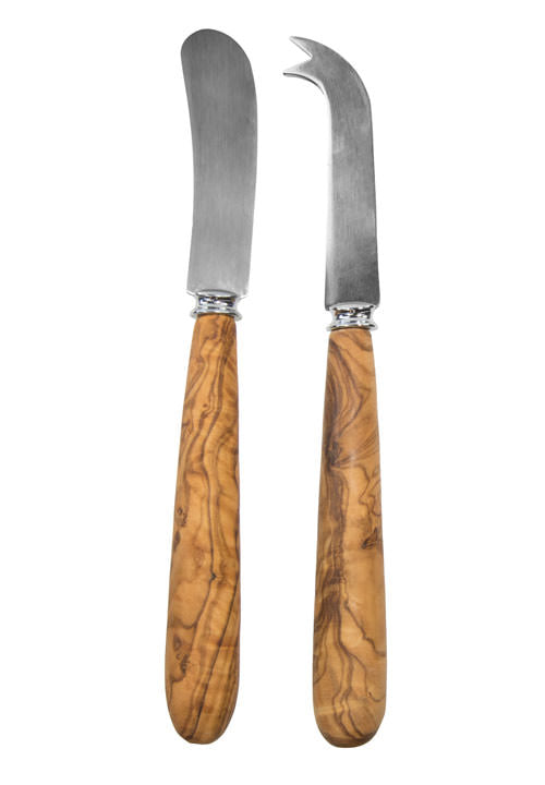Tramanto Olive Wood Cheese Knife Set of 2