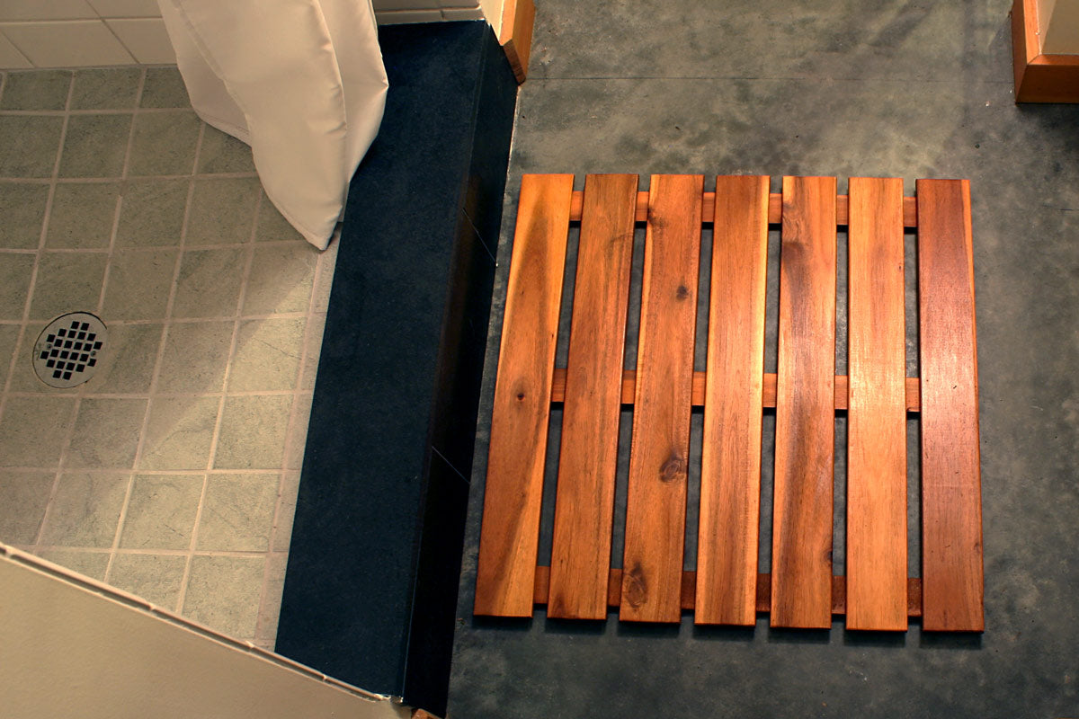 Villa Acacia Extra Large Wooden Shower Mat Thirteen Chefs