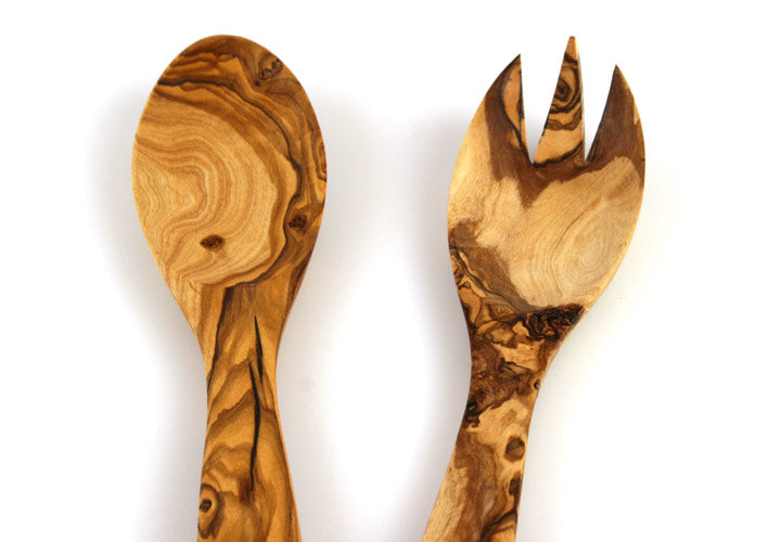 Tramanto Olive Wood Salad Servers- Tuscan