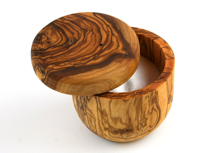 Tramanto Olive Wood Salt Box
