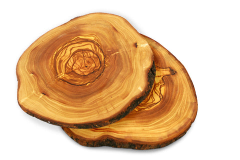 Tramanto Olive Wood Serving Plates (Set of 2)