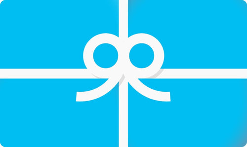 Blue Giftcard logo with white bow