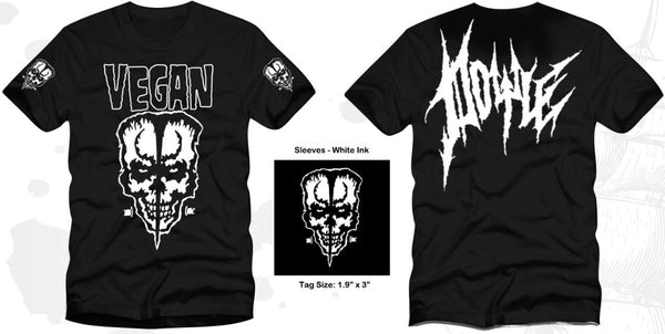 "NEW DESIGN ""VEGAN"" SKULL TSHIRT"