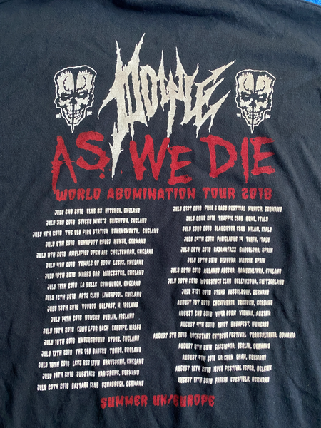 IMPORT ..As We Die World Abomination tour 2018