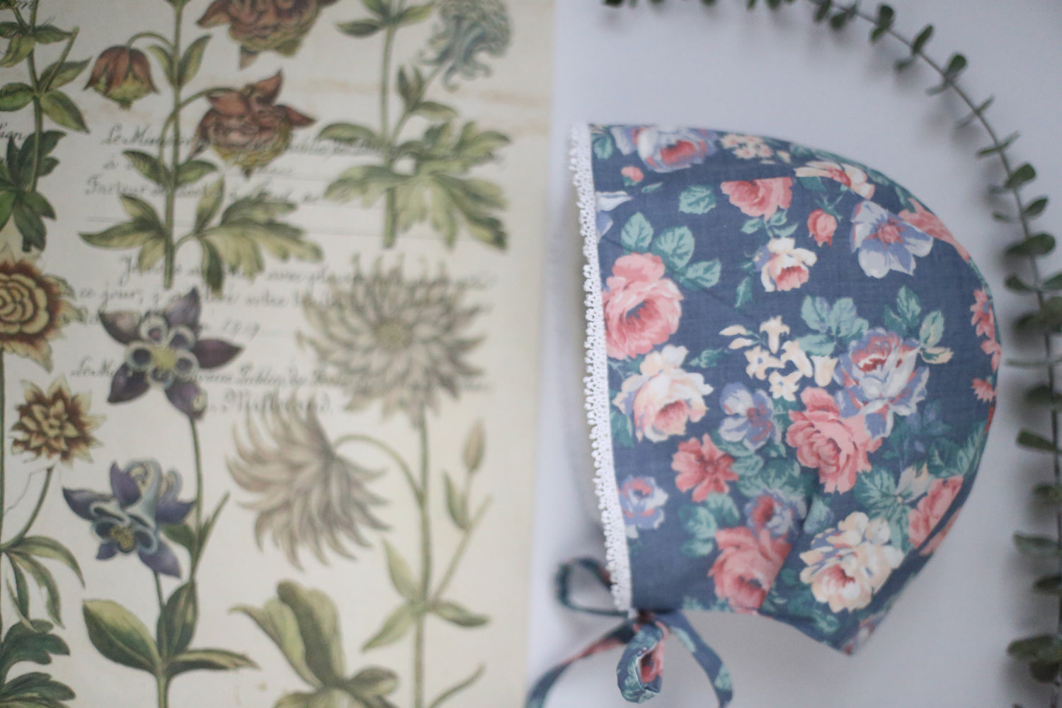 Asther Vintage Floral Bonnet