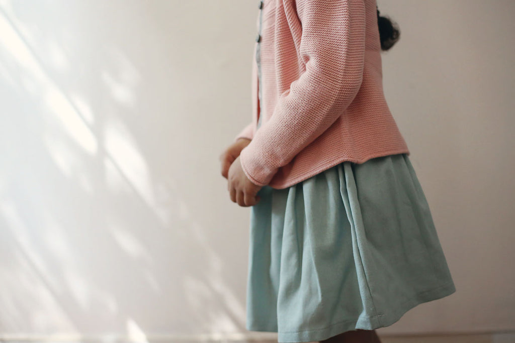 Autumn Mist Linen Skirt