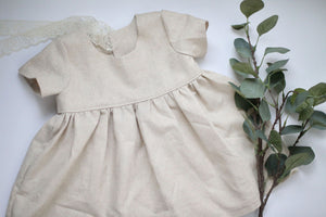 Layla Linen Short Sleeve Dress