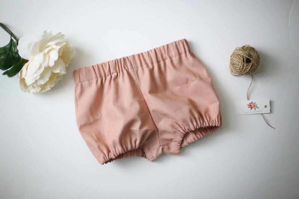 Linen Bloomers in Rose Pink