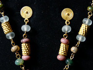 Pre-Colombian Earring, Necklace & Bracelet Jewelry Set (G04)