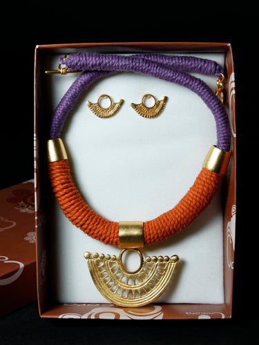 Pre-Colombian Choker and Earring Jewelry Set (G03)