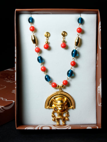 Pre-Colombian Earring & Necklace Jewelry Set (G04)