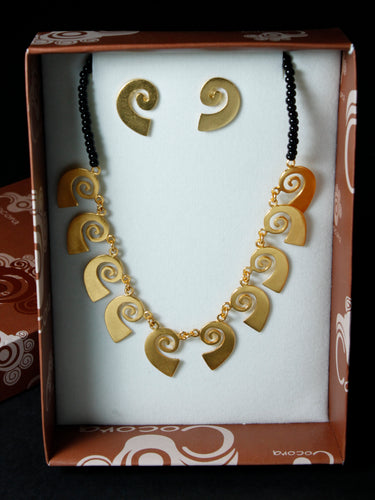 Pre-Colombian Earring & Necklace Jewelry Set (G06)