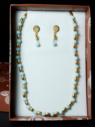 Pre-Colombian Earring & Necklace Jewelry Set (1249-20-G07)