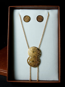 Pre-Colombian Earring & Necklace Jewelry Set (1249-30-G01)