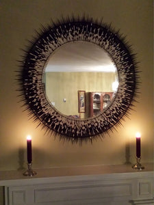 Medium African Porcupine Quill Mirror (1285-RM-G02)