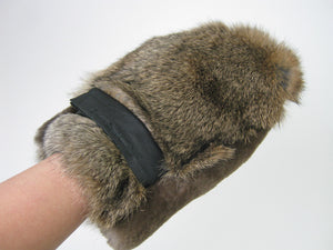 Small Sheared Beaver & Rabbit Fur Massage Mitt (695-10-G2548)