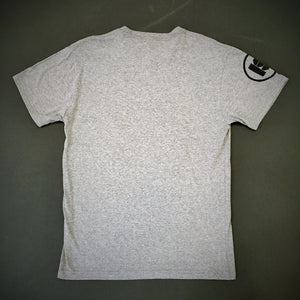 INDUSTRIAL STRENGTH ICON TEE - HEATHER GREY / BLACK