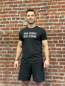REAL PEOPLE REAL STRONG TEE - BLACK