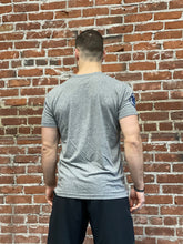 INDUSTRIAL STRENGTH ICON TEE - HEATHER GREY / NAVY