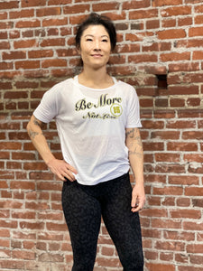 BE MORE TEE - WHITE / OLIVE