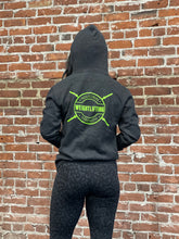 ISG WEIGHTLIFTING ZIP HOODY - VINTAGE BLACK
