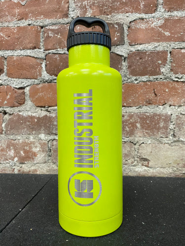INDUSTRIAL STRENGTH WORDMARK BOTTLE - GREEN