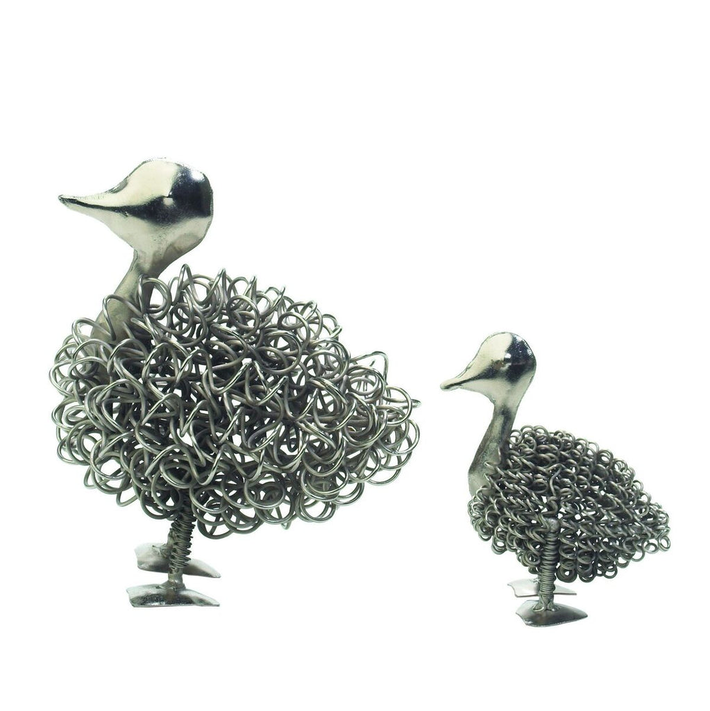 Wiggle Duckling & Mummy Duck Ornament