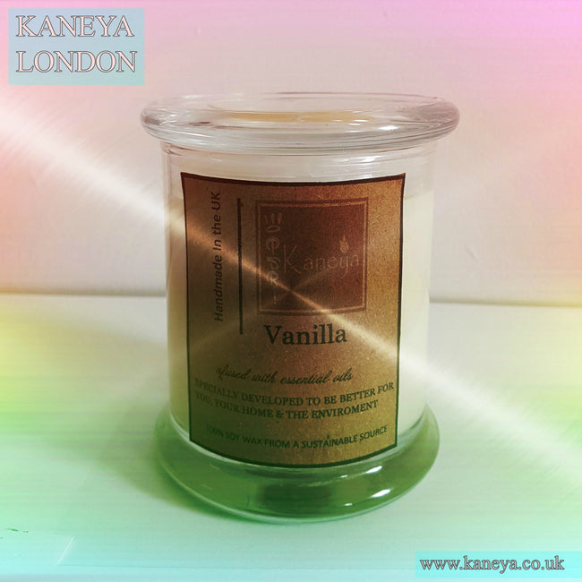 Vanilla Scented Elegance Glass Scented Candle