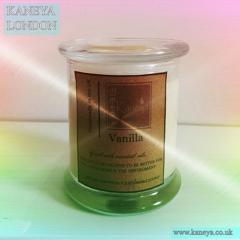 Dark Amber & Khahili Lily Elegance Small Glass Scented Candle