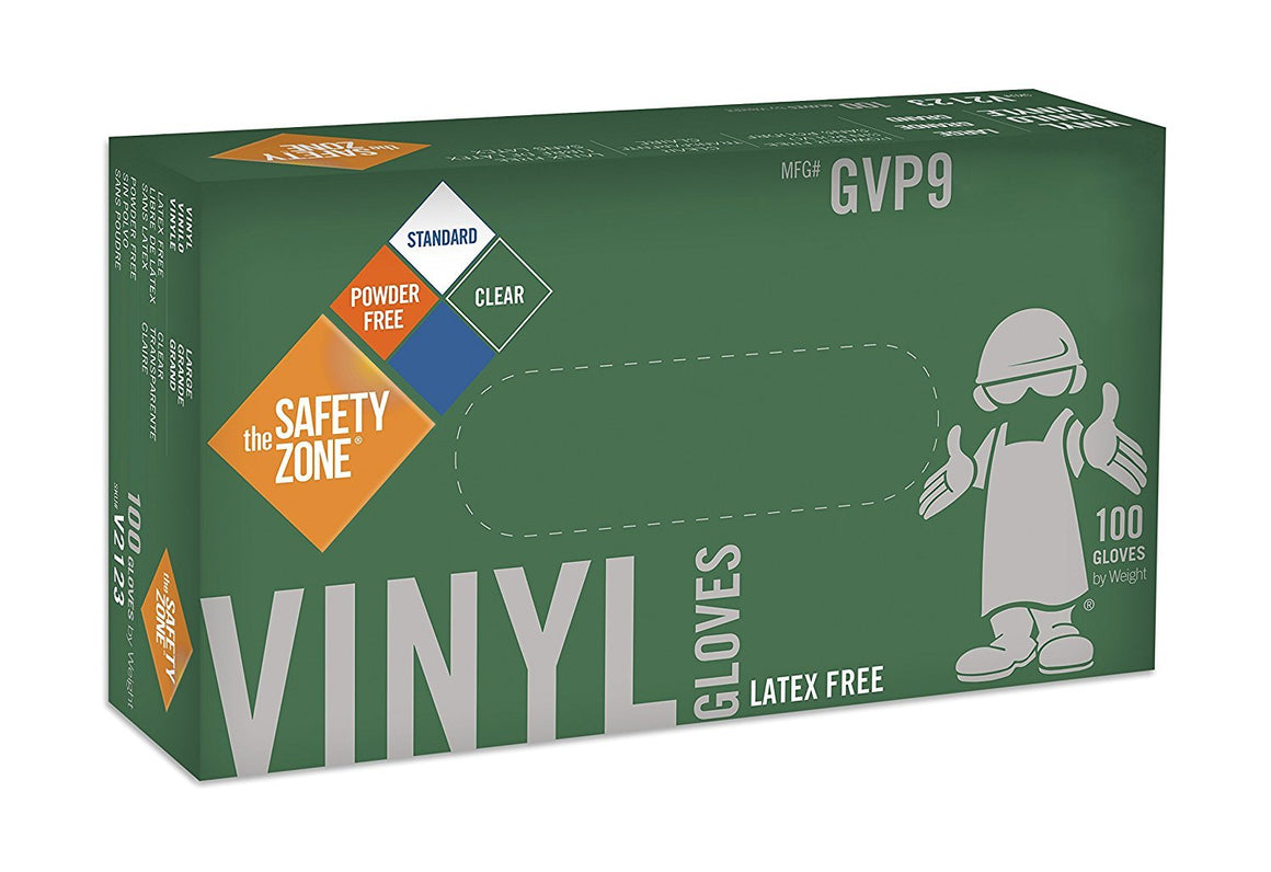 Disposable Vinyl Gloves - Powder Free, Clear, Latex Free and Allergy Free, Plastic, Work, Food Service, Cleaning, Wholesale Cheap, Size Extra Large (Case of 1000)